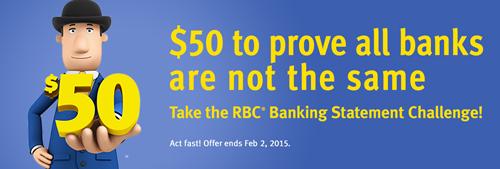 royal bank canada free $50 visa offer