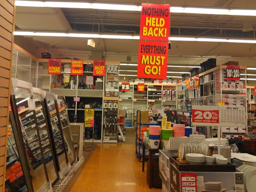 Not Trusting The Sale Signs With Store Closing Prices