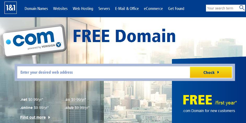free domains for websites