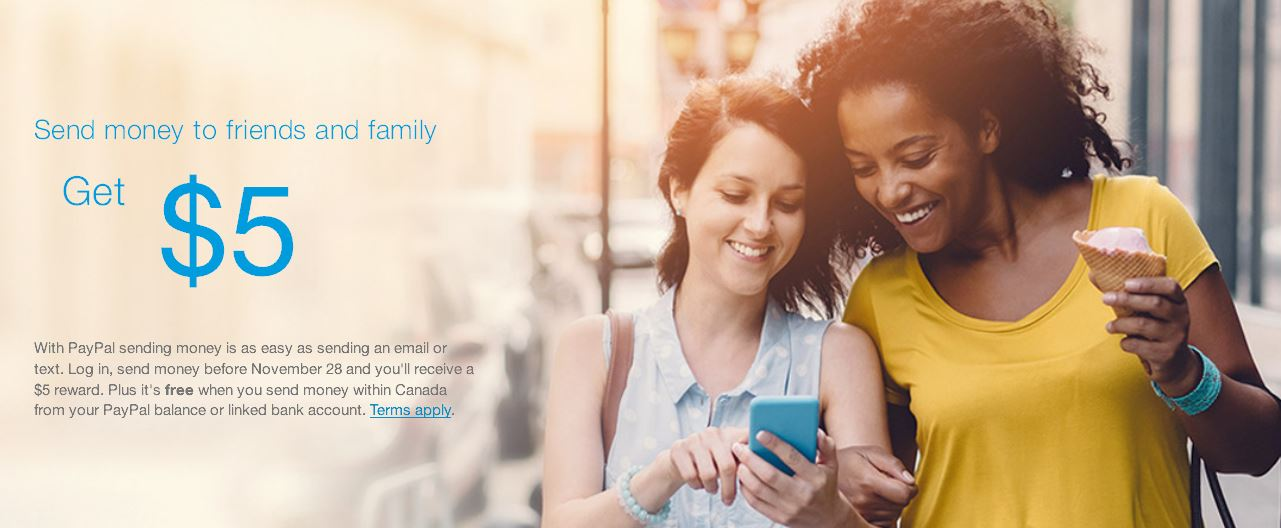 Get A Free $5 From Paypal By Sending Money To A Friend or Family