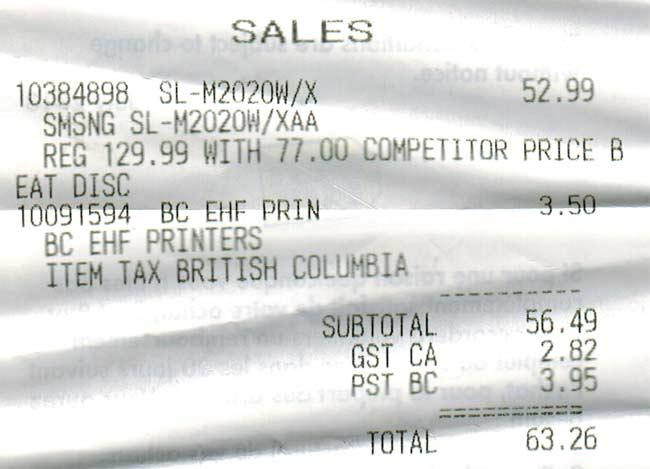 Wireless Laser Printer (SL-M2020W/XAA) price match best buy