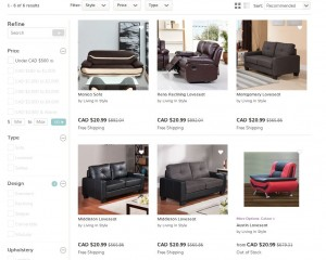wayfair canada furniture price error