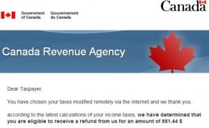 canada revenue agency refund tax scam 2016