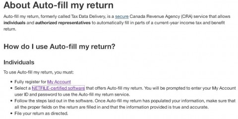 auto tax fill canada revenue