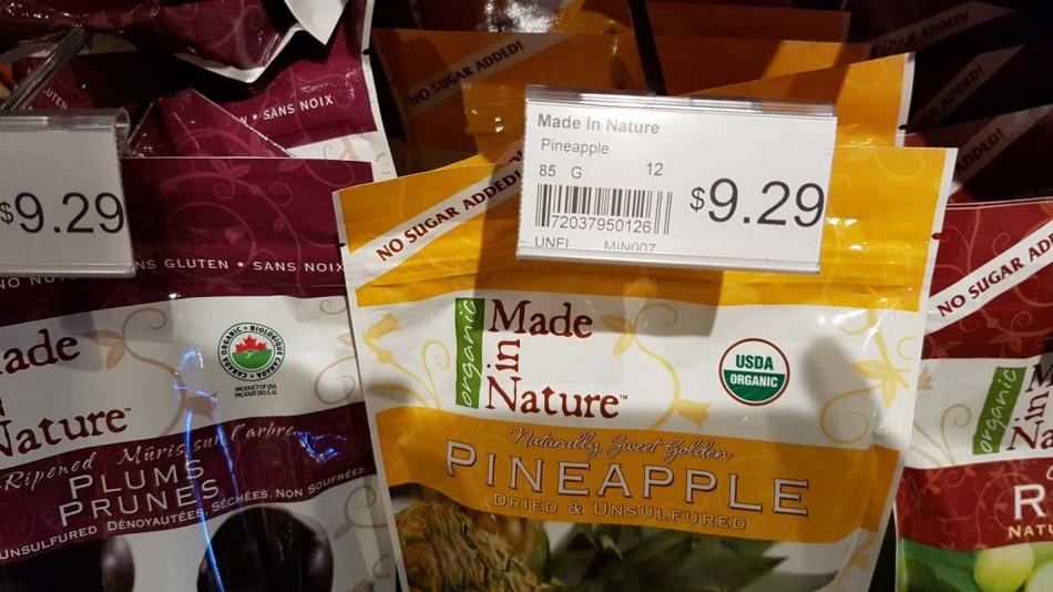 Dried pineapple price