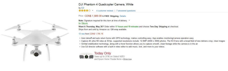 dji phantom 4 canada price