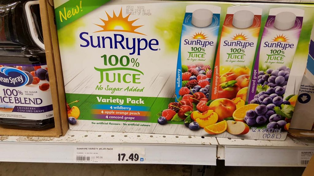 sunrype juice bulk expensive