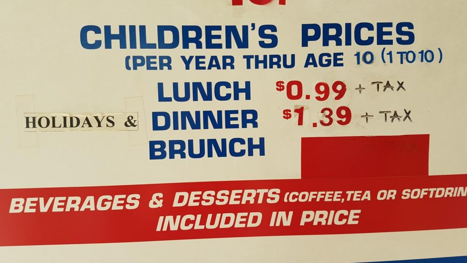 kids buffet uncle willy's price