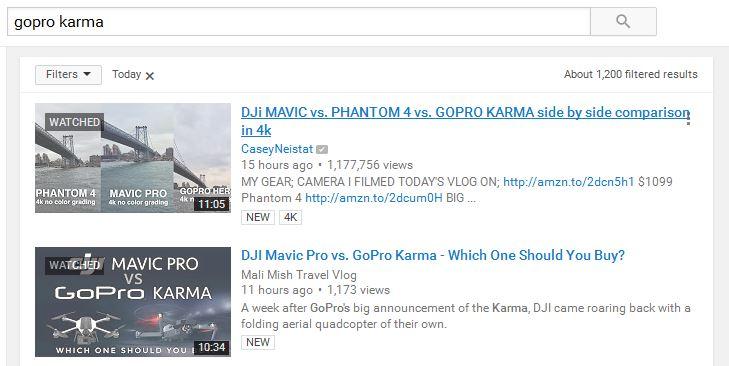 gopro karma dji mavic search results