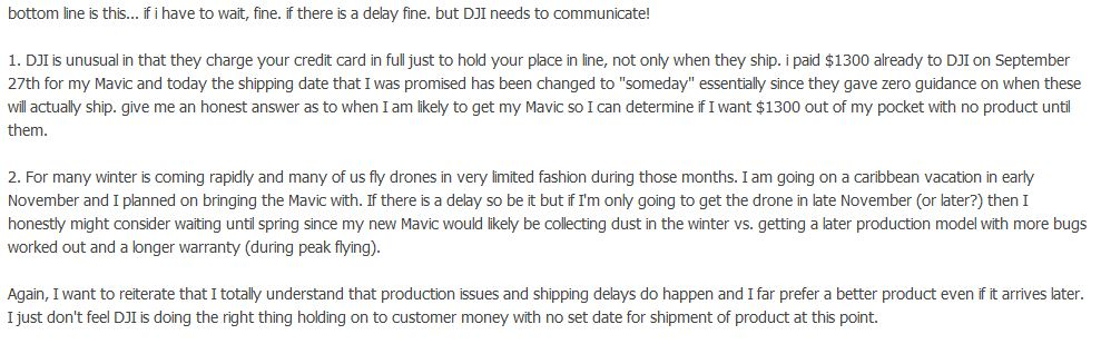dji complaint customer service