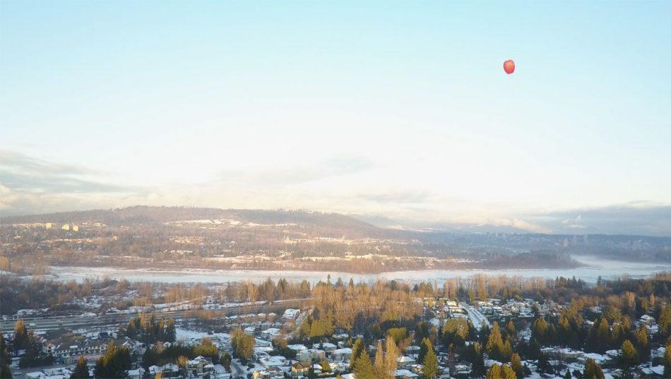 drone lake balloon