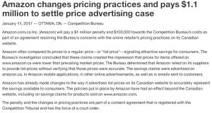 amazon canada misleading price fine