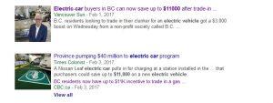 canada electric car rebate $11,000