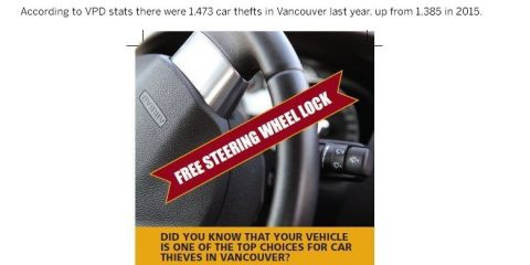 vancouver police free steering wheel lock