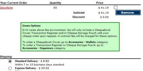 canada cheque fees